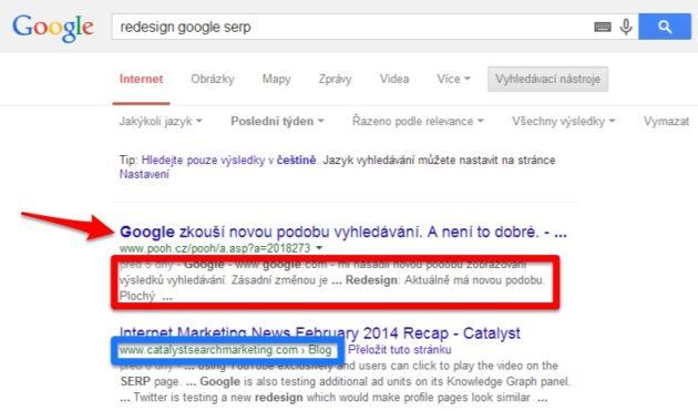 Jak vypadá výsledek nového na hledání Google