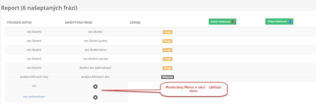 Stahování dat z našeptávačů - Marketing Miner