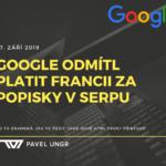 Google ve Francii vypne zobrazování úryvků