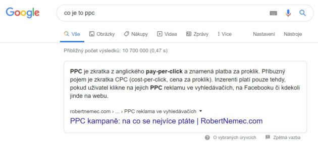 Toto je Featured Snippet